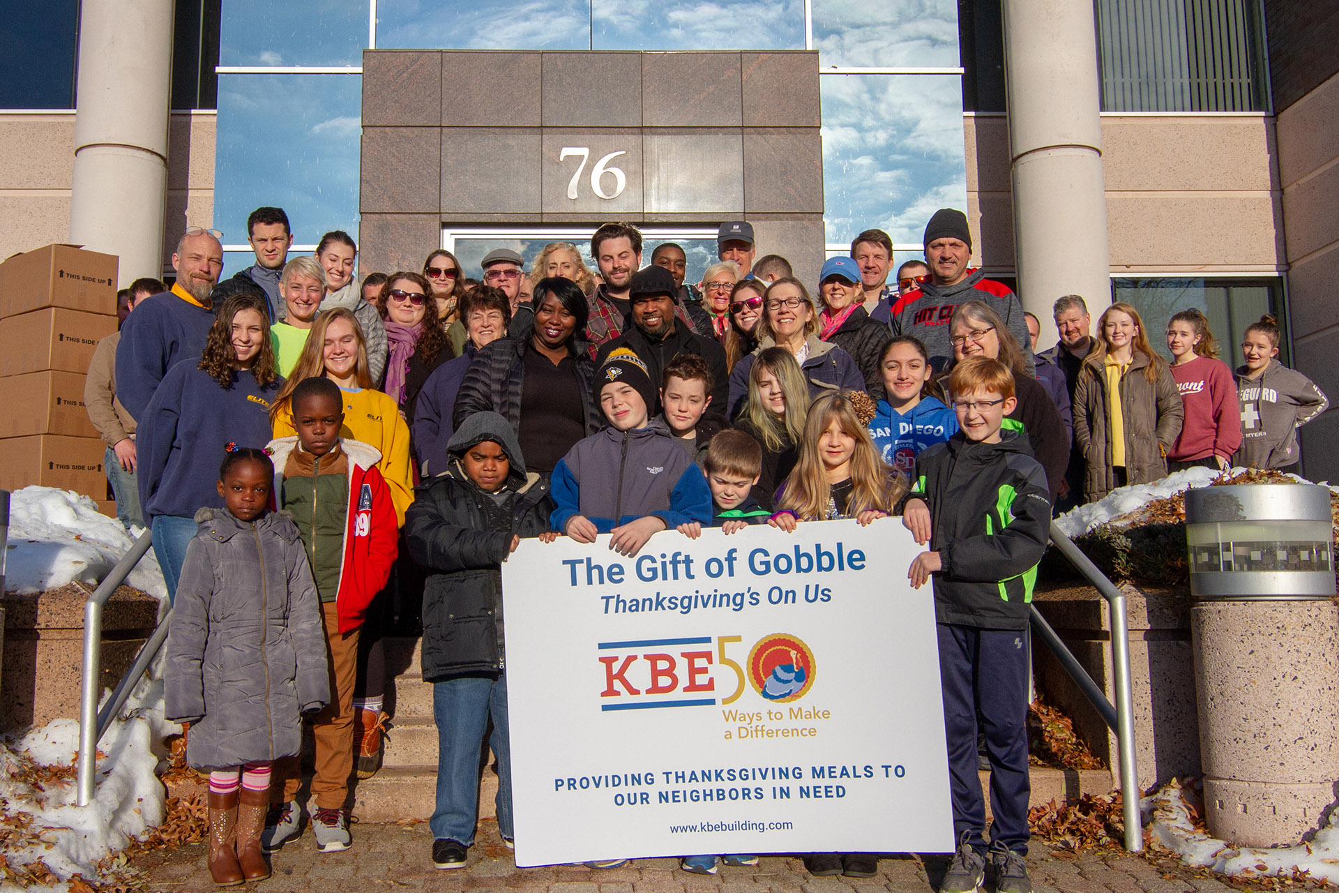 368 Families Enjoy Thanksgiving Dinner Courtesy of KBE Building Corporation